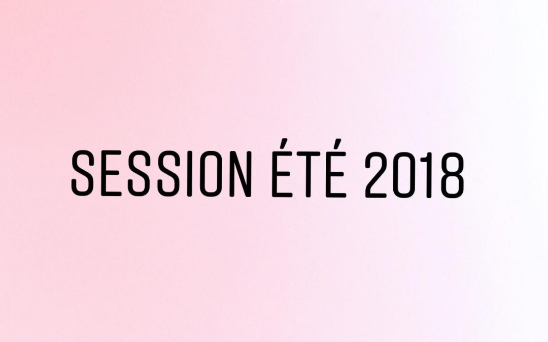 Session été 2018