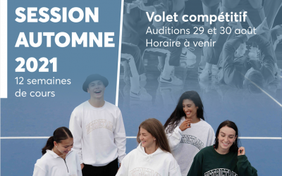 Auditions 2021-2021  Horaire